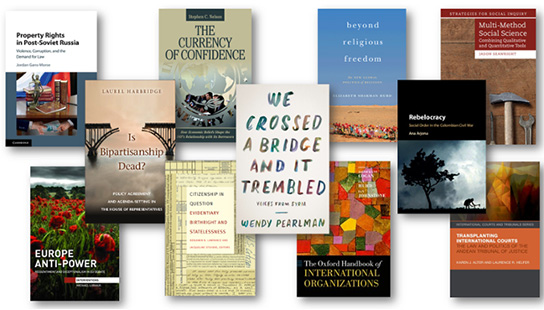 Collage of faculty publication covers