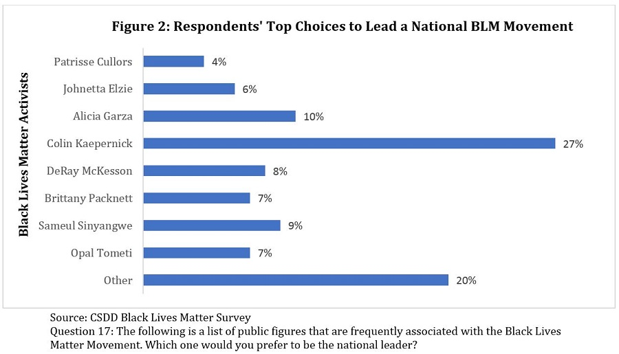 Respondent's Top Choice to Lead a National BLM Movement