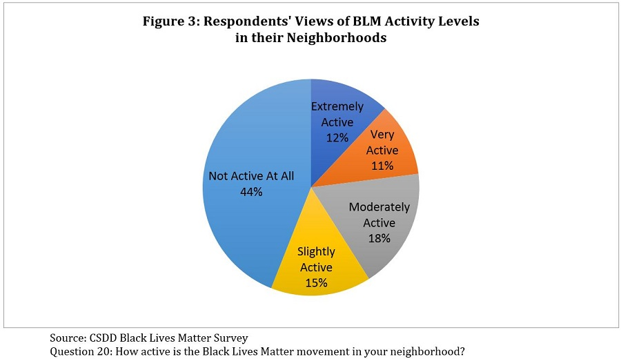Respondents' Views of BLM Activity Levels in their Neighborhoods